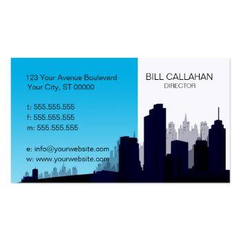 Blue Skyline Construction Business Card