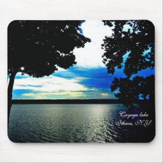 BLUE SKYS ON CAYUGA LAKE mouse pad