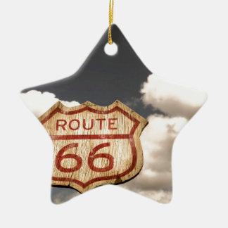 Blue Sky's on Route 66 Ceramic Ornament