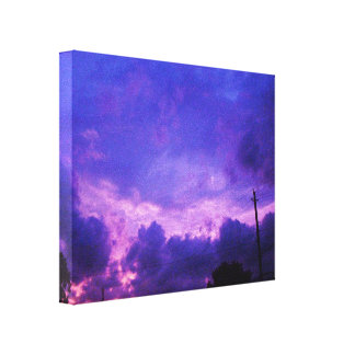 BLUE SKYS wrapped canvas Canvas Print