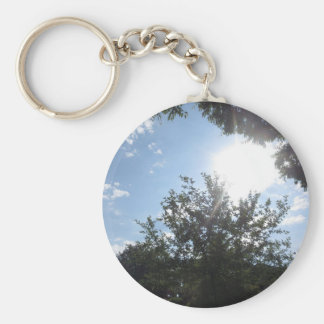 Blue SKYview Sky CherryHILL America Gifts NVN684 f Basic Round Button Keychain