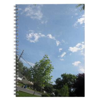 Blue SKYview Sky CherryHILL America Gifts NVN684 f Spiral Notebook