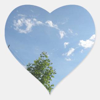 Blue SKYview Sky CherryHILL America Gifts NVN684 f Heart Sticker