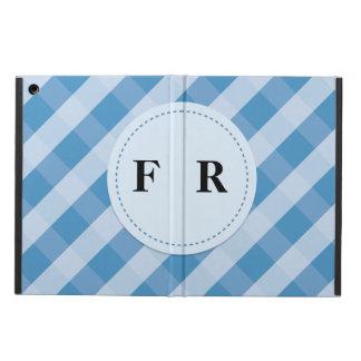 blue slash pattern ipad air case