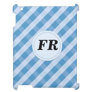 blue slash pattern ipad case