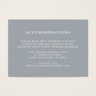 Blue Slate Wedding Hotel Accommodations Cards
