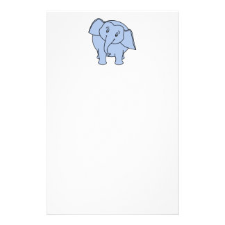 Blue Sleepy Elephant. Cartoon. Stationery