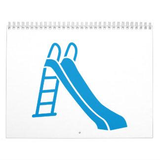 Blue slide calendar