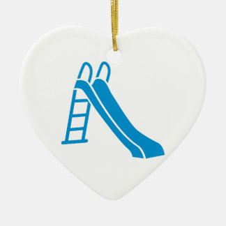 Blue slide ceramic ornament