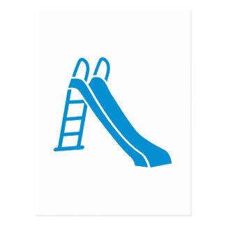Blue slide postcard