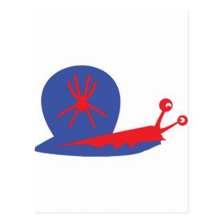 blue slug icon postcard