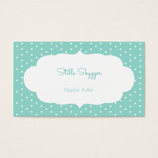Blue Small Square Business Card