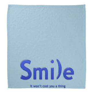 Blue  Smile Ascii Text Bandana