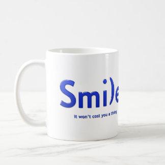 Blue Smile Ascii Text Mug