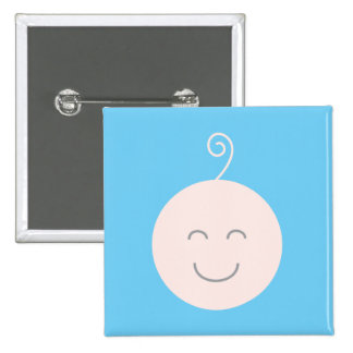 Blue Smile Baby Button