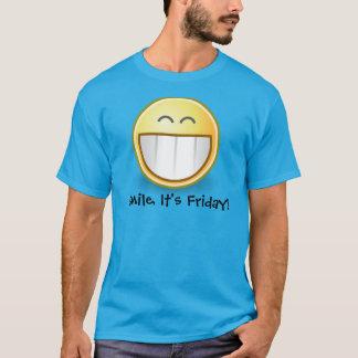 "Blue""Smile, It's Friday"" Smiley Face Men's T Shirt"