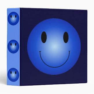 Blue Smiley 3 Ring Binder