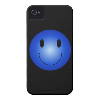 Blue Smiley iPhone 4 Case-Mate Cases
