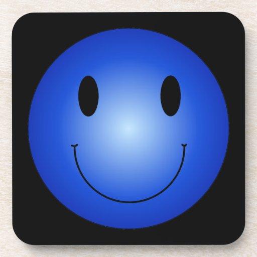 Blue Smiley Drink Coaster