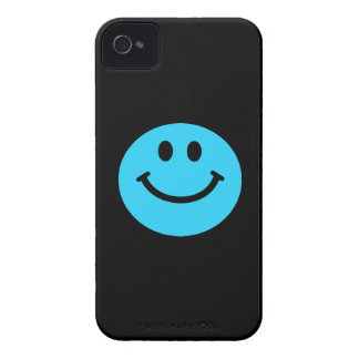 Blue smiley face iPhone 4 covers