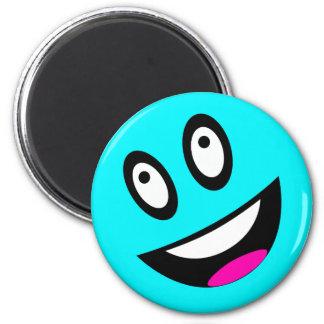 Blue Smiley Face Magnet