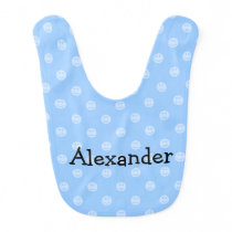 Blue smiley face pattern baby bib for boy