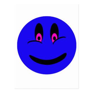 Blue Smiley Face Postcard