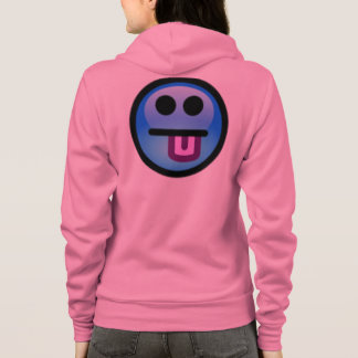 Blue Smiley Face with tongue sticking out. Fun! Hoodie