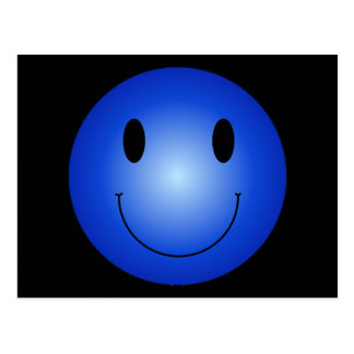 Blue Smiley Postcard