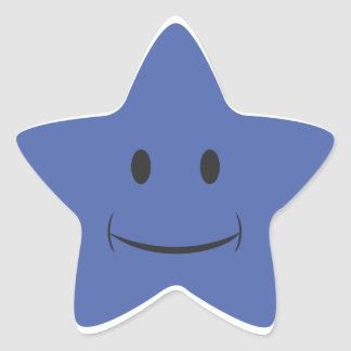 Blue Smiley Sticker