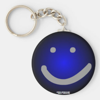 Blue Smiley Town KeyChain