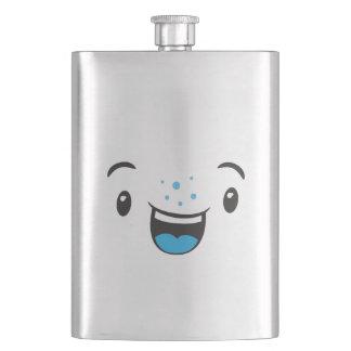 Blue Smiling Kawaii Face Flask