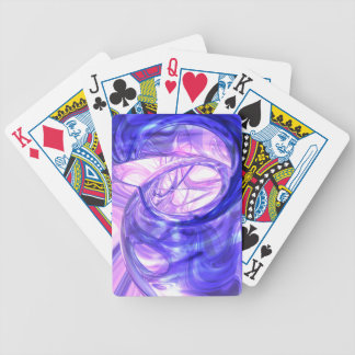 Blue Smoke Abstract Card Deck