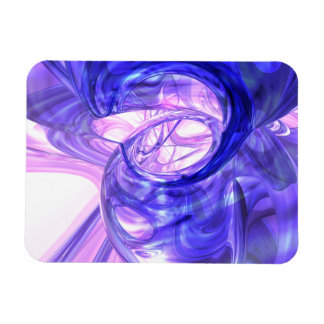 Blue Smoke Abstract Large Magnet