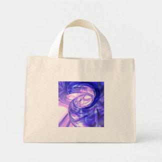 Blue Smoke Abstract Mini Tote Bag