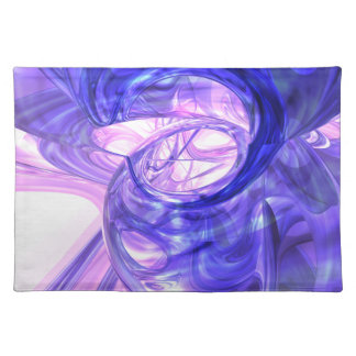 Blue Smoke Abstract Placemats