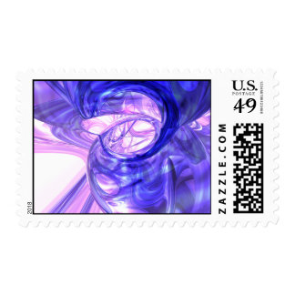 Blue Smoke Abstract Stamp