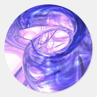 Blue Smoke Abstract Sticker
