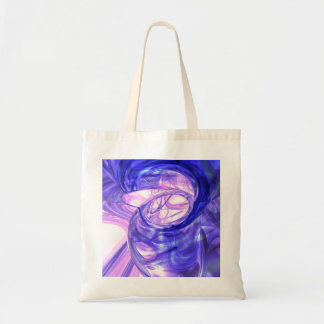 Blue Smoke Abstract Tote Bag
