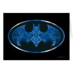 Blue Smoke Bat Symbol Card