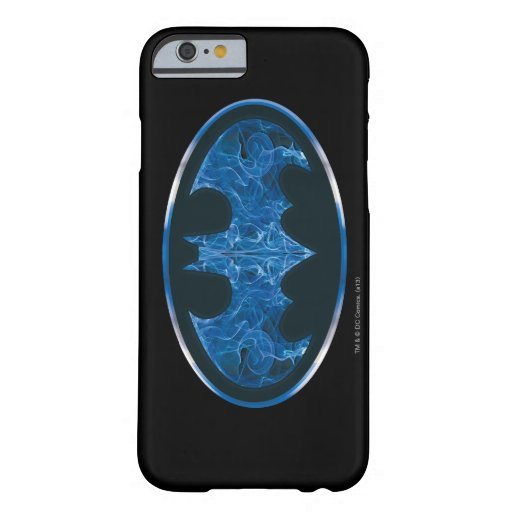 Blue Smoke Bat Symbol Barely There iPhone 6 Case