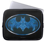 Blue Smoke Bat Symbol Computer Sleeves