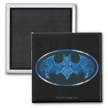 Blue Smoke Bat Symbol Refrigerator Magnets