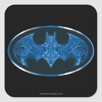 Blue Smoke Bat Symbol Bag Tag Zazzle