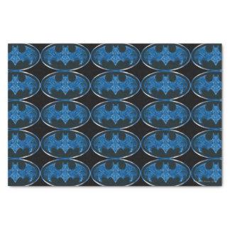 Blue Smoke Bat Symbol Tissue Paper