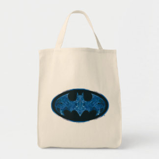 Blue Smoke Bat Symbol Tote Bag