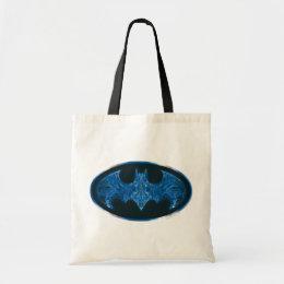 Blue Smoke Bat Symbol Tote Bag