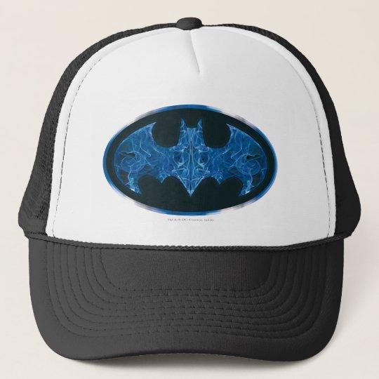 Blue Smoke Bat Symbol Trucker Hat