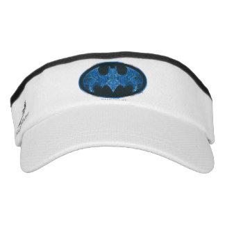 Blue Smoke Bat Symbol Visor