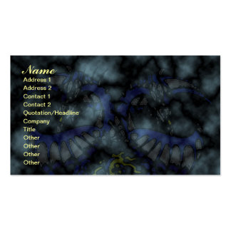 Blue Smoke Dragonheart Business Card